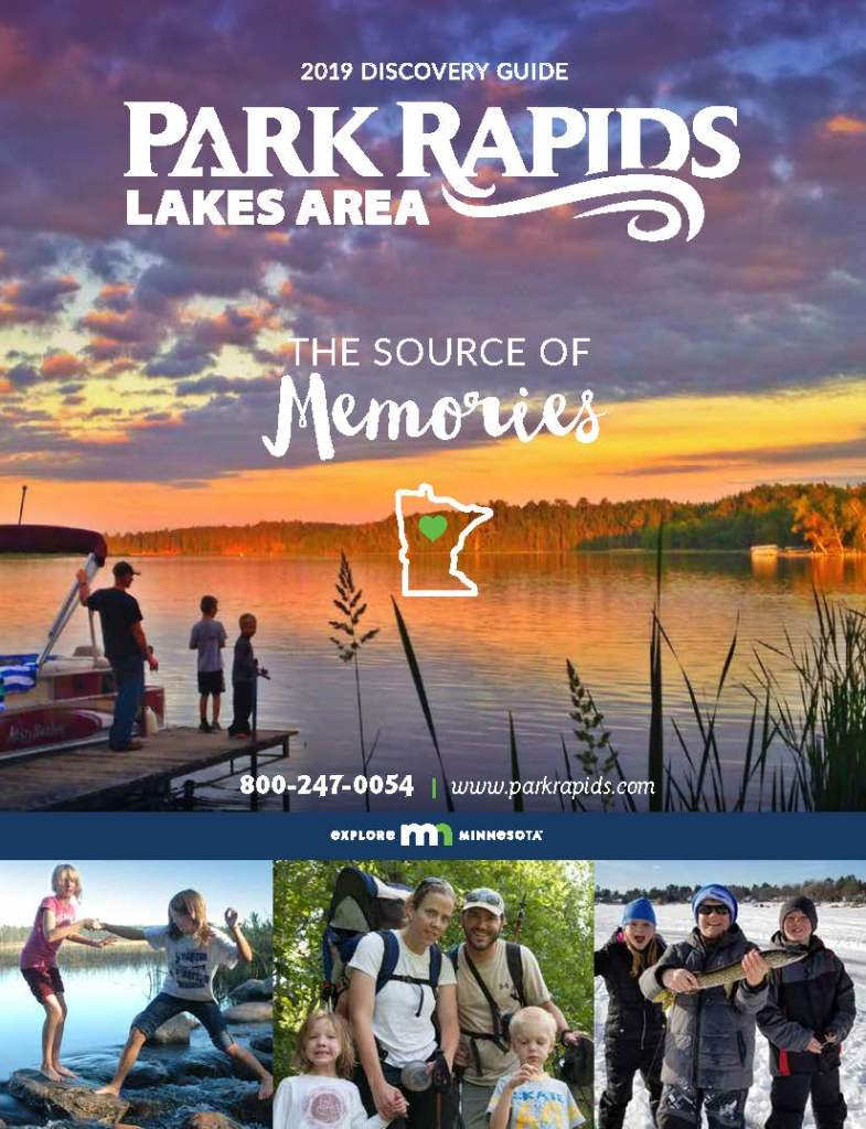 The 2019 Park Rapids Lakes Area Discovery Guide cover