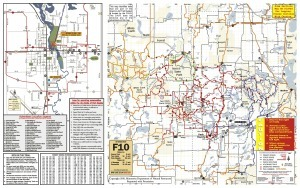 Forest Riders Snowmobile Trail Map - latest version 2014