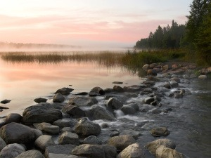 lake Itasca at sunrise