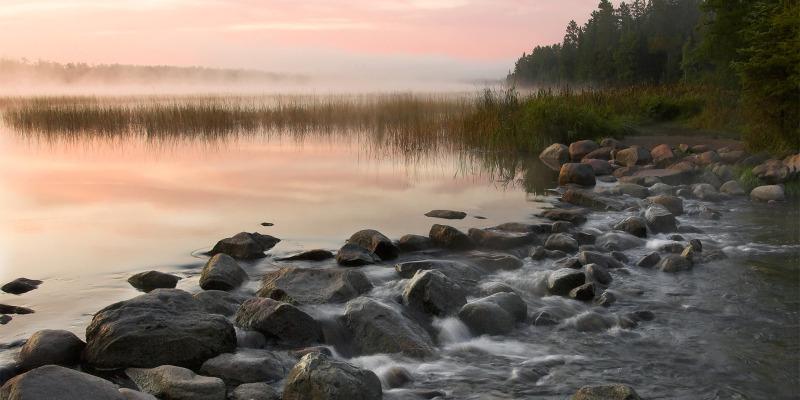 lake Itasca at sunrise