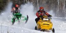 snowmobiling in park rapids