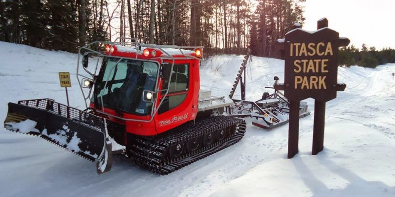 grooming cross country ski trails in itasca state park near park rapids minnesota