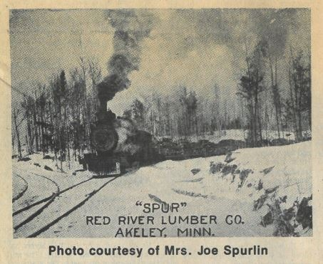 Lumber train on the Spur railway.