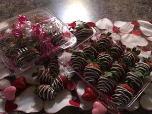 Dad's 1/2 Way There Pizza is selling chocolate covered strawberries for one day only.
