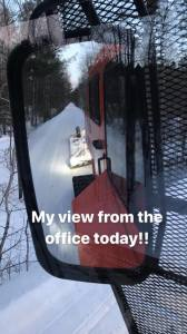 A view from the groomer by the Nevis Trailblazers