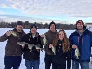 ice fishing pike crappies family