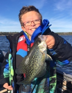 crappie young boy fall 2020