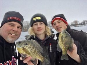 ice fishing josh boys crappie selfie jb vex striker