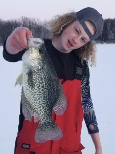 ice fishing crappie will 16 looking
